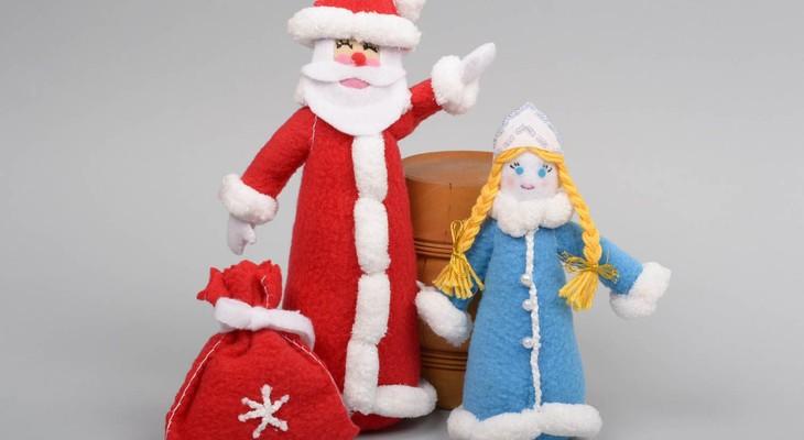 Мягкие новогодние игрушки