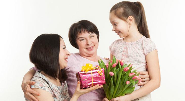 Варианты подарков для бабушки на 65 лет от внуков