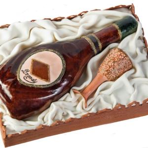 Оформление бутылки коньяка в подарок для мужчины