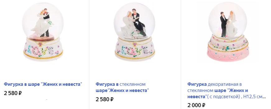 Фигурка в шаре «Жених и невеста»