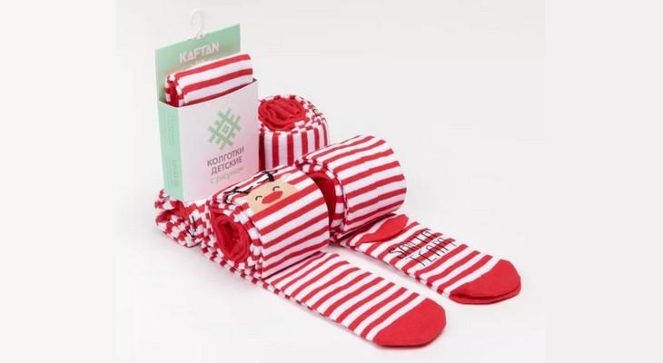 Колготки детские «Санта» новогодние