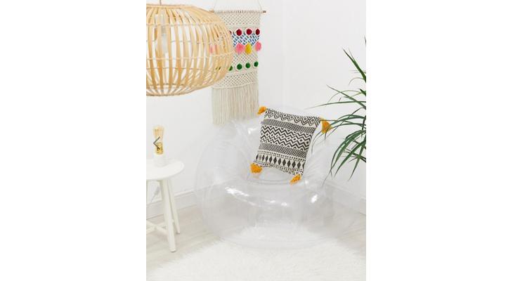 Прозрачное надувное кресло