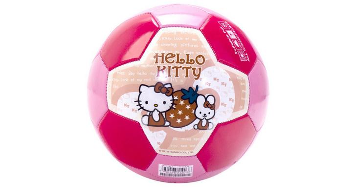 Розовый футбольный мяч для девочки