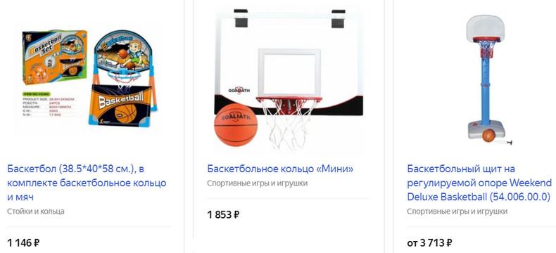 Баскетбольная корзина с мячом