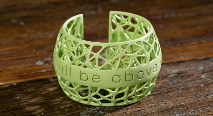 3D-браслет с фразой