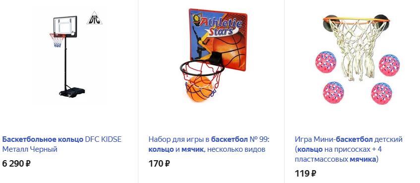 Баскетбольное кольцо с мячом