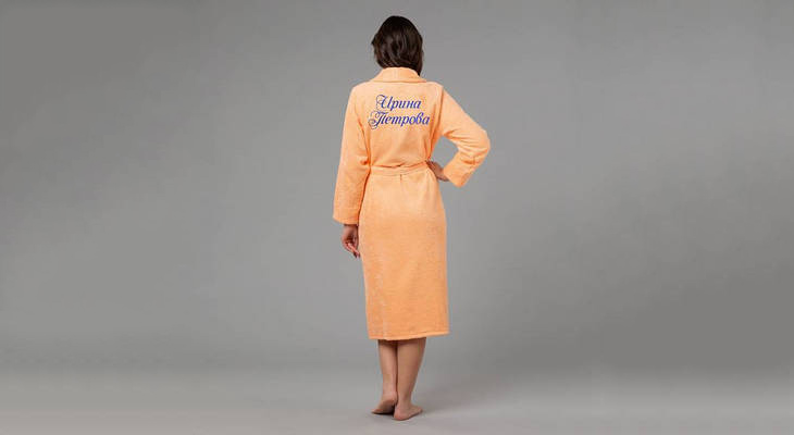 Именной халат с вышивкой