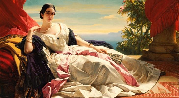 Картина с портретом жены