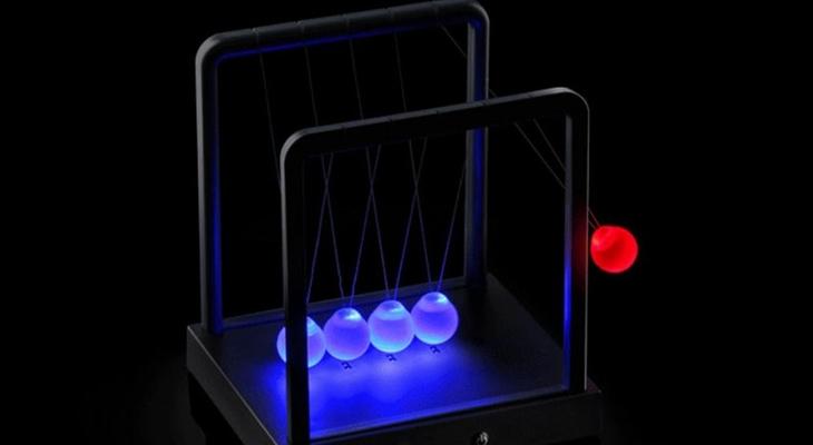 LED-маятник Ньютона