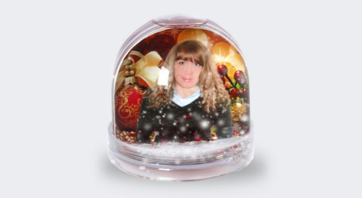 Персональный водяной шар с фото