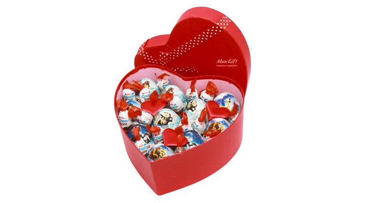 Подарочный набор «Сердечный Kinder сюрприз»