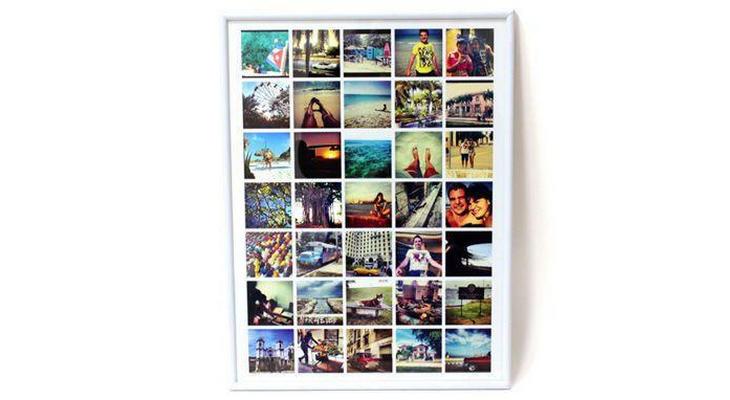 Постер в рамке с вашими изображениями размером 30х40см