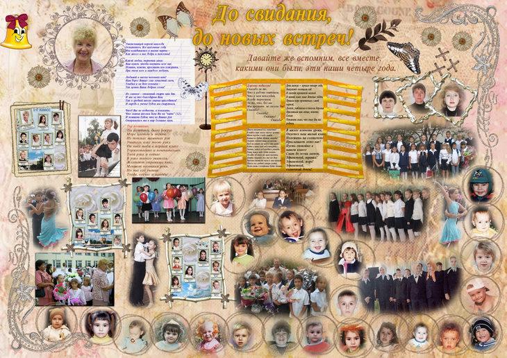 Фотки на плакате на выпускной
