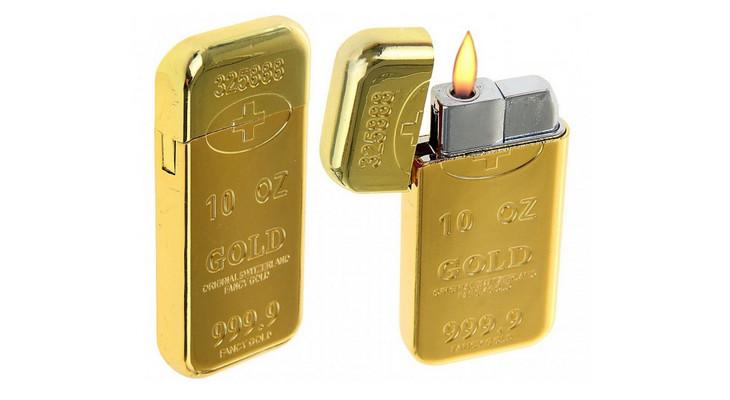 Зажигалка «Слиток Золота» в футляре